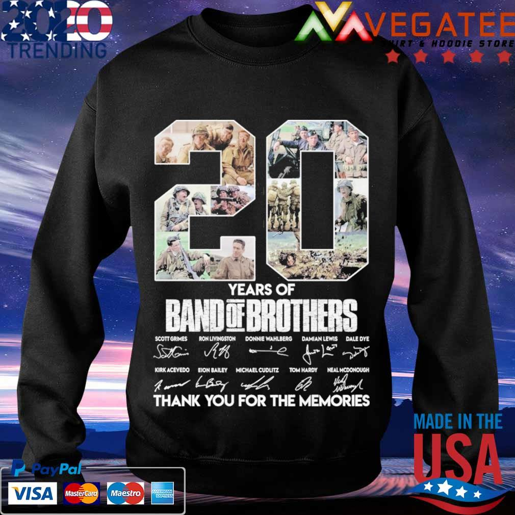20 Year of Band of Brothers thank you for the memories signatures s Sweatshirt