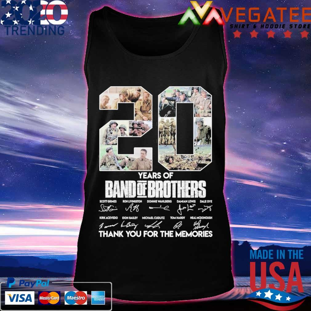 20 Year of Band of Brothers thank you for the memories signatures s Tanktop
