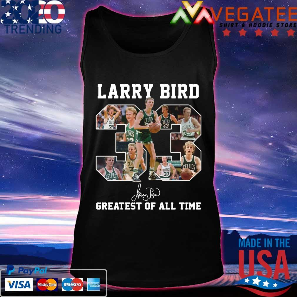 33 Larry Bird Greatest of all time signature s Tanktop