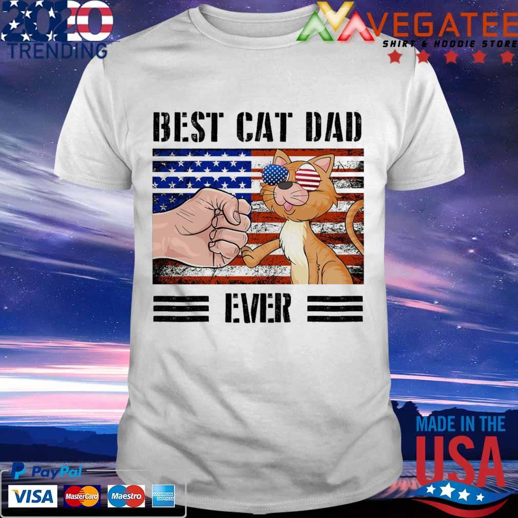 Best cat dad ever american vintage shirt