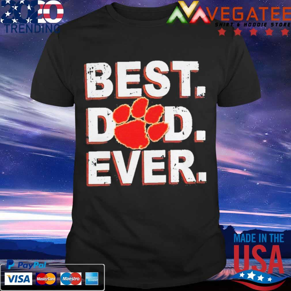 Best Dad Ever Fathers Day Clemson Shirt