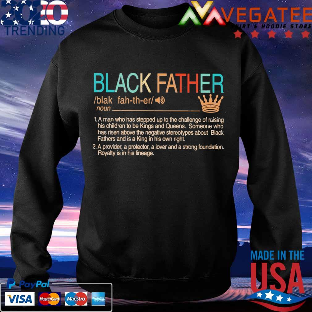 Black Father Definition vintage s Sweatshirt