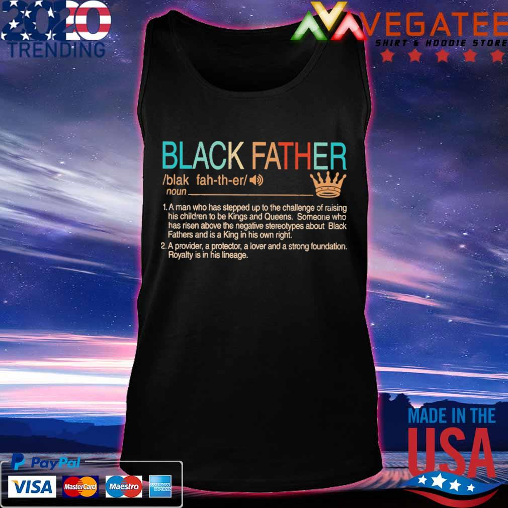 Black Father Definition vintage s Tanktop