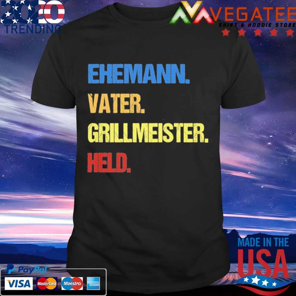 Ehemann vater grillmeister held vintage shirt