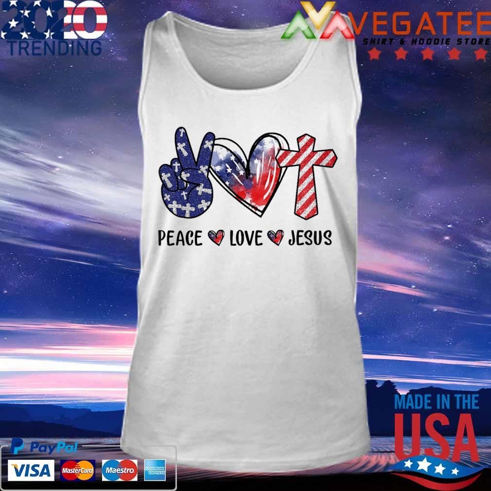 Peace Love Jesus diamond s Tank top