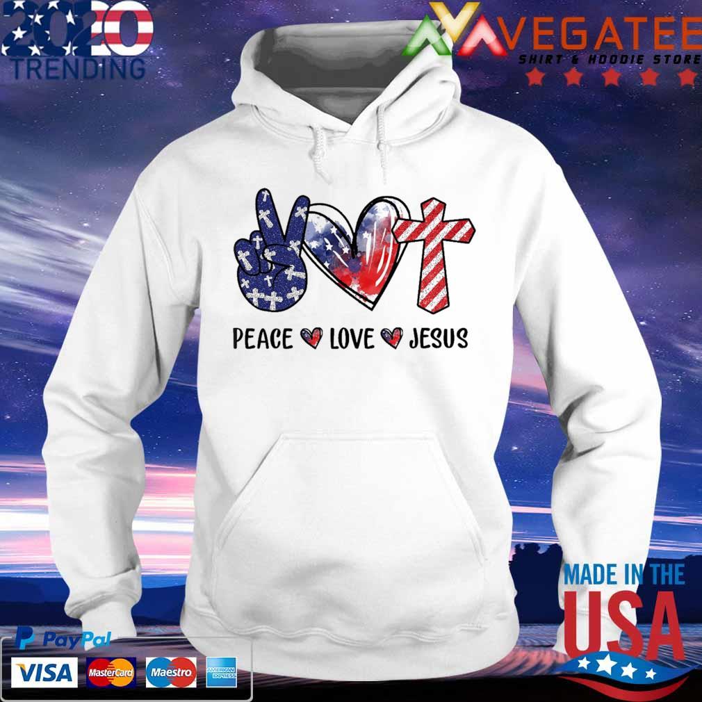 Peace Love Jesus diamond s hoodie