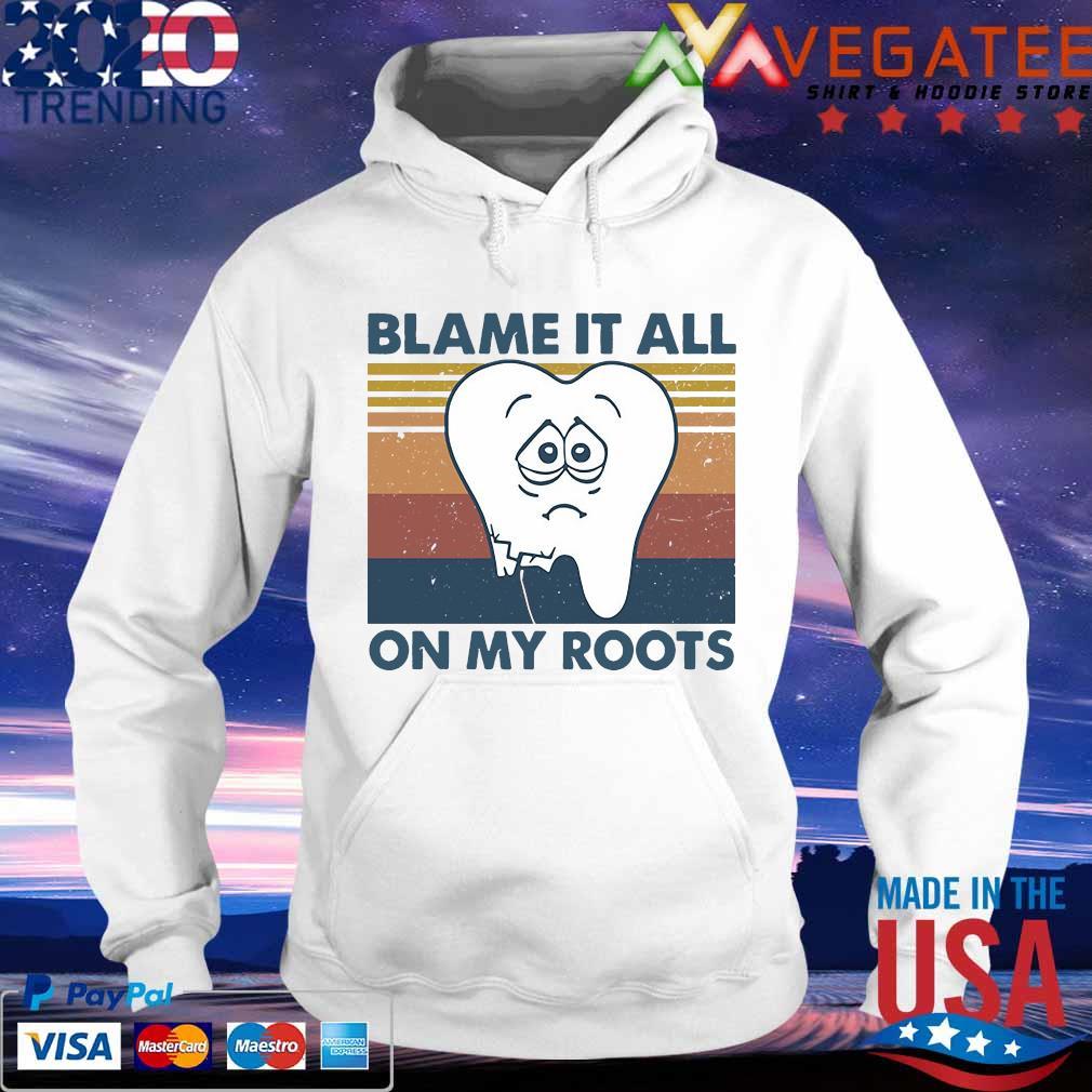Blame It All On My Roots Back Print Long-Sleeved Hoody Men