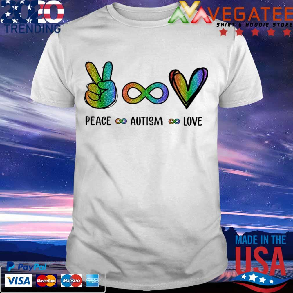 LGBT Peace Autism Love Diamond shirt