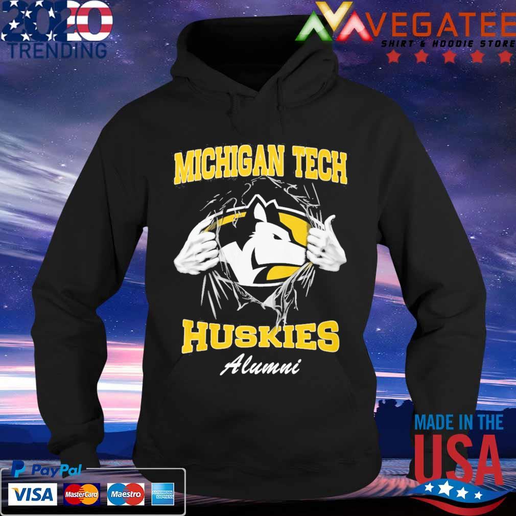 Blood inside me Michigan tech Huskies alumni s Hoodie