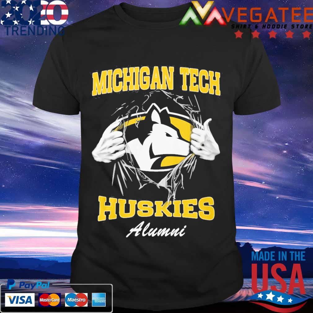 Blood inside me Michigan tech Huskies alumni shirt