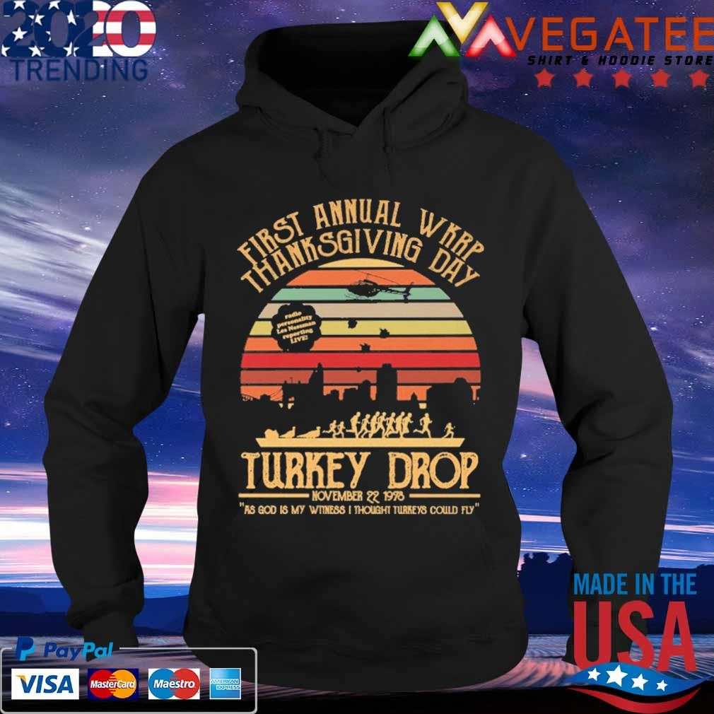 First annual Wkrp thanks giving day Turkey Drop november 22 1978 vintage s Hoodie