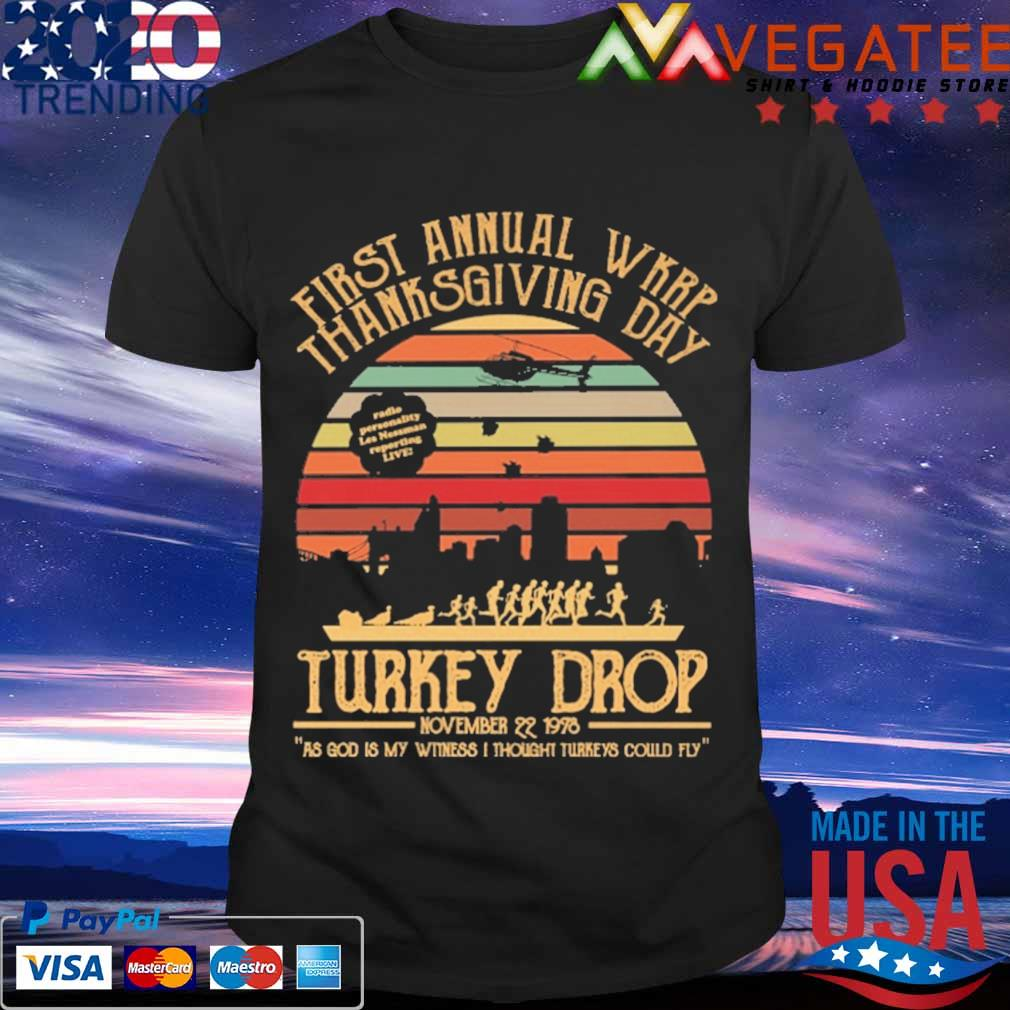 First annual Wkrp thanks giving day Turkey Drop november 22 1978 vintage shirt