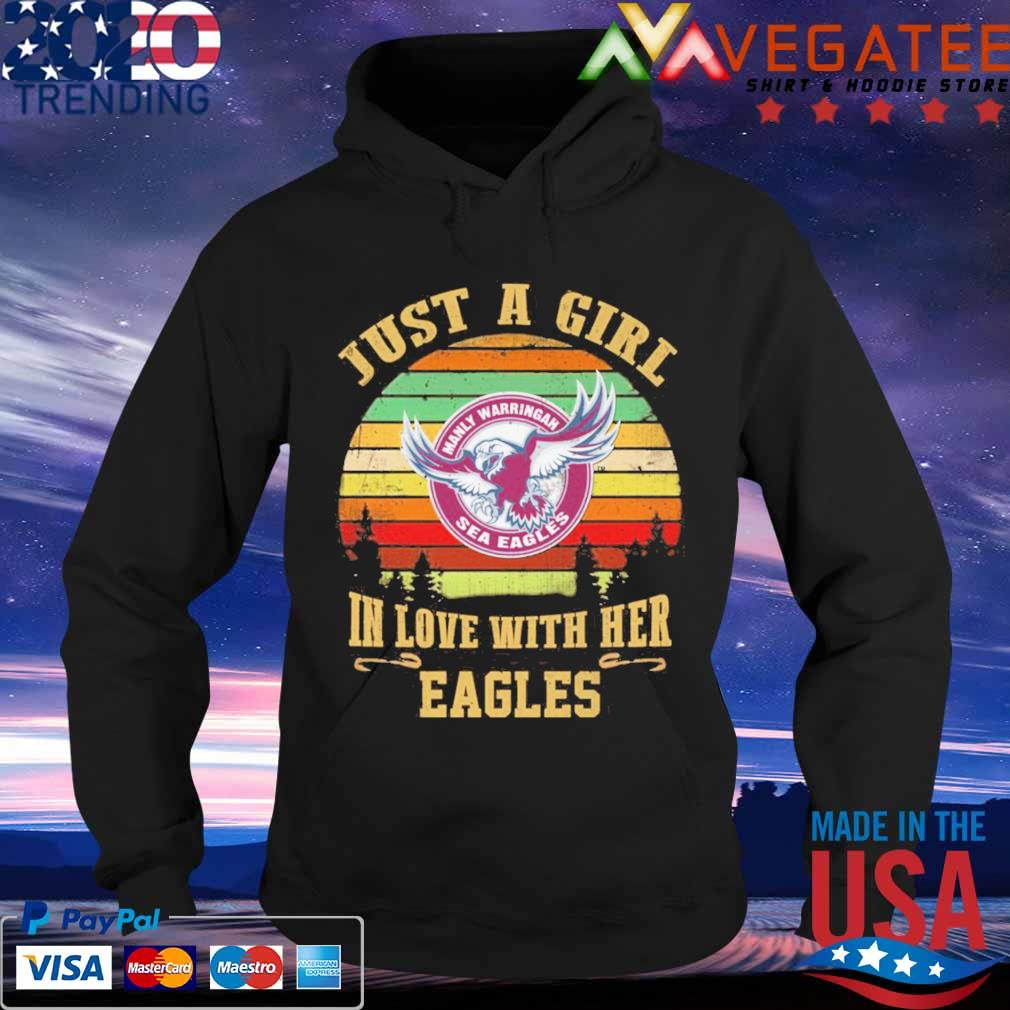 Just a Girl in love with her Manly Warringah Eagles vintage s Hoodie