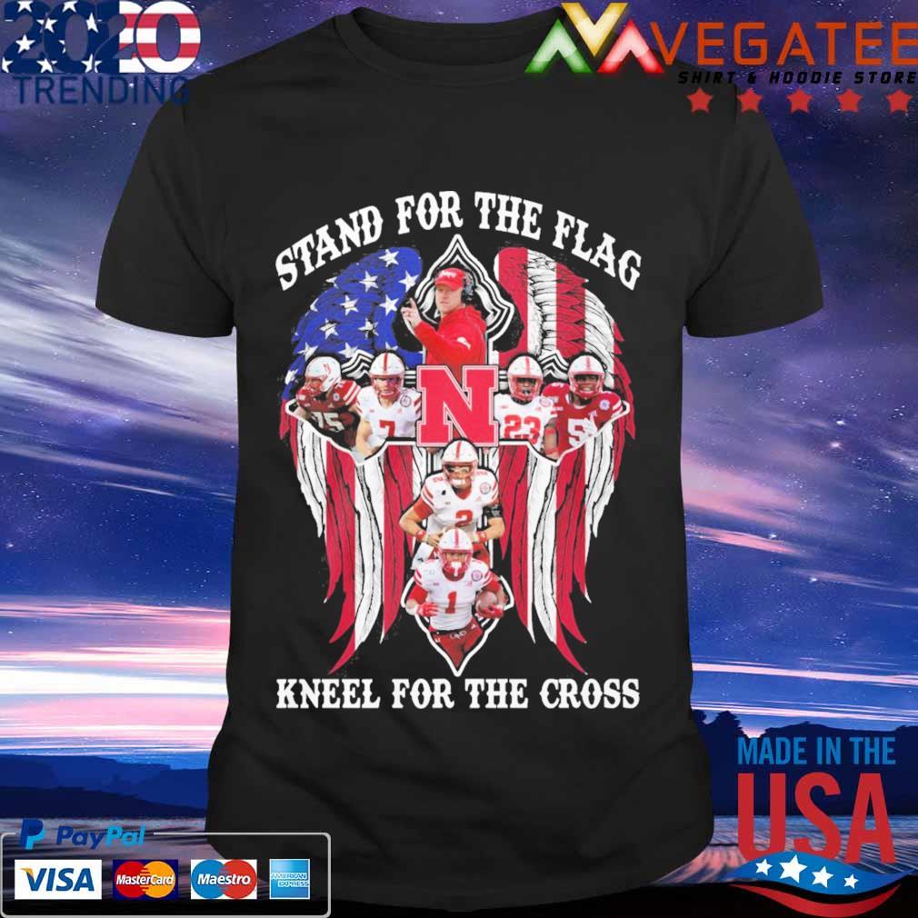 Nebraska Cornhuskers Stand for the flag kneel for the cross shirt