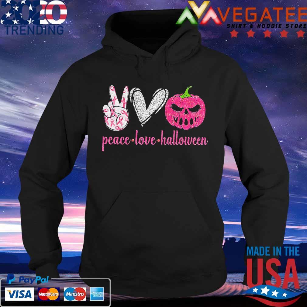 Official Peace love Halloween diamond s Hoodie