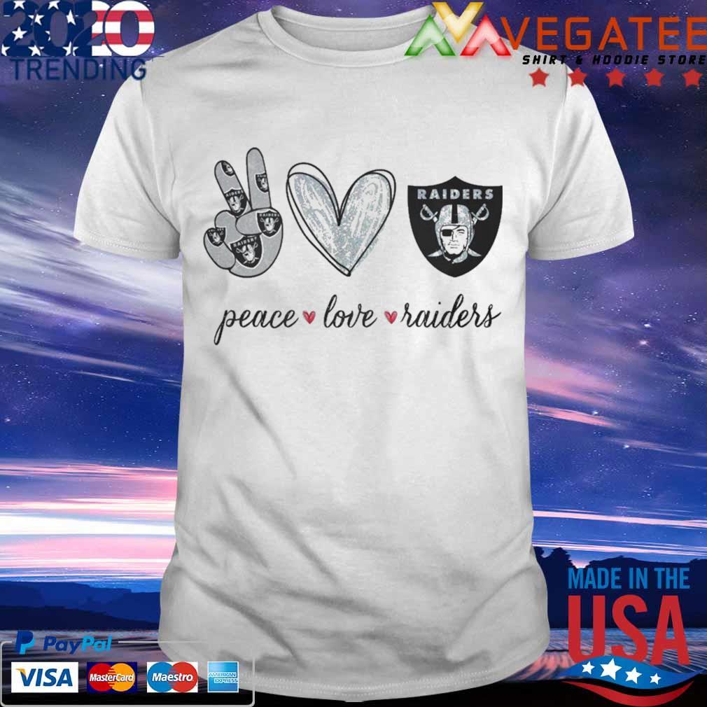 Peace Love Raiders diamond shirt
