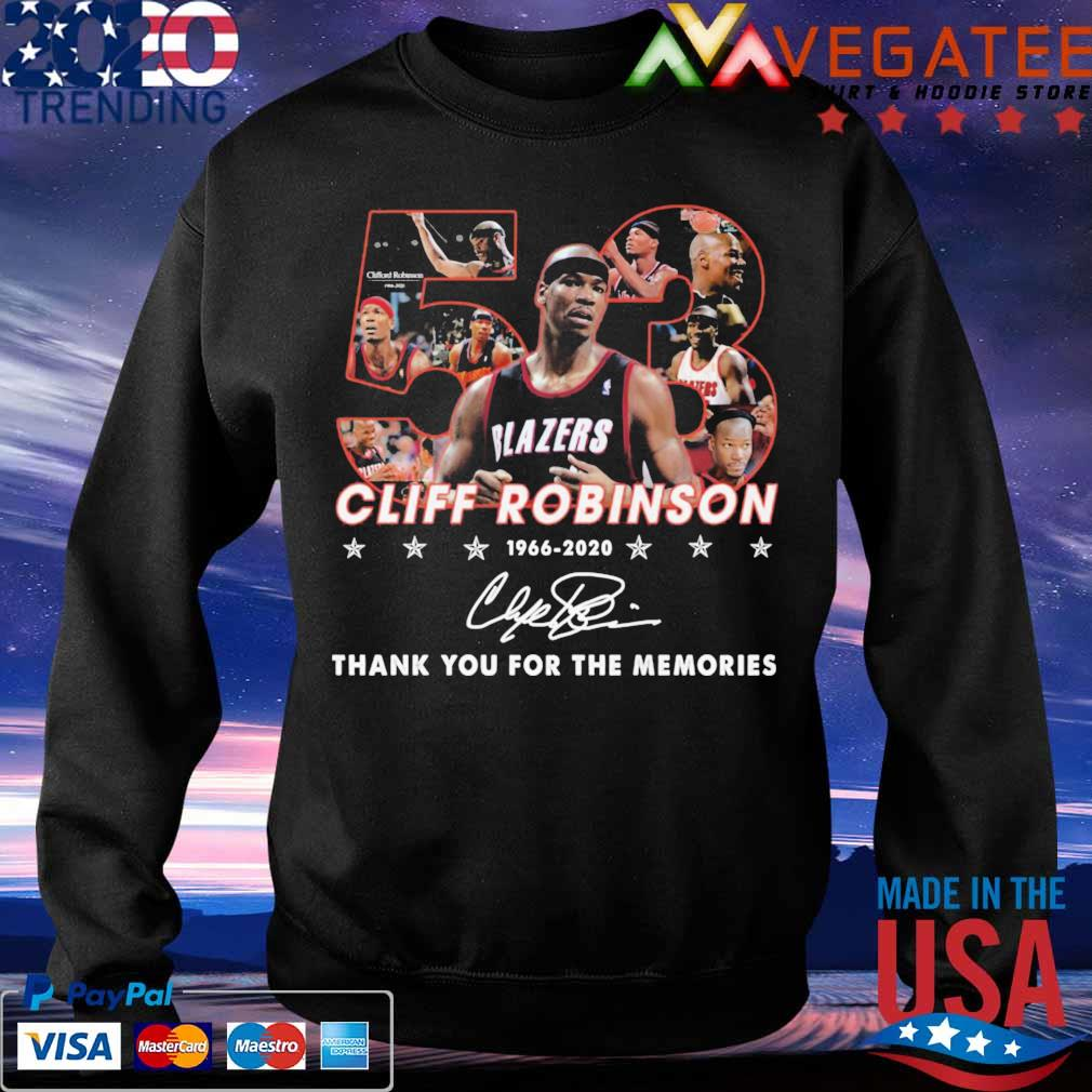 53 Cliff Robinson 1966 2020 thank yuou for the memories signature s Sweatshirt