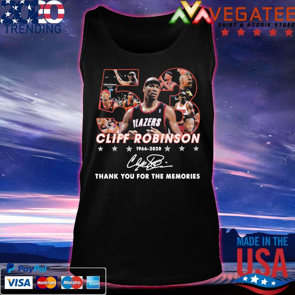 53 Cliff Robinson 1966 2020 thank yuou for the memories signature s Tanktop