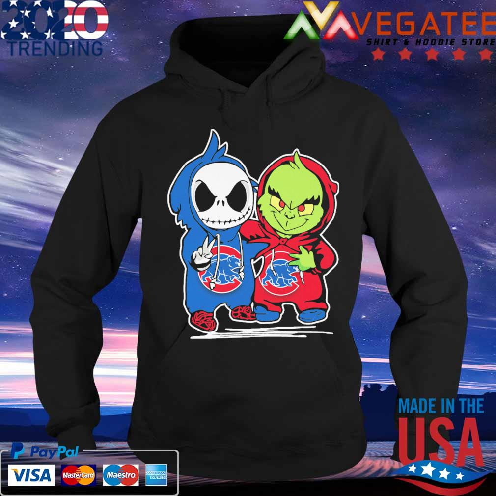 Baby Jack Skellington and Baby Grinch Chicago Cubs s Hoodie