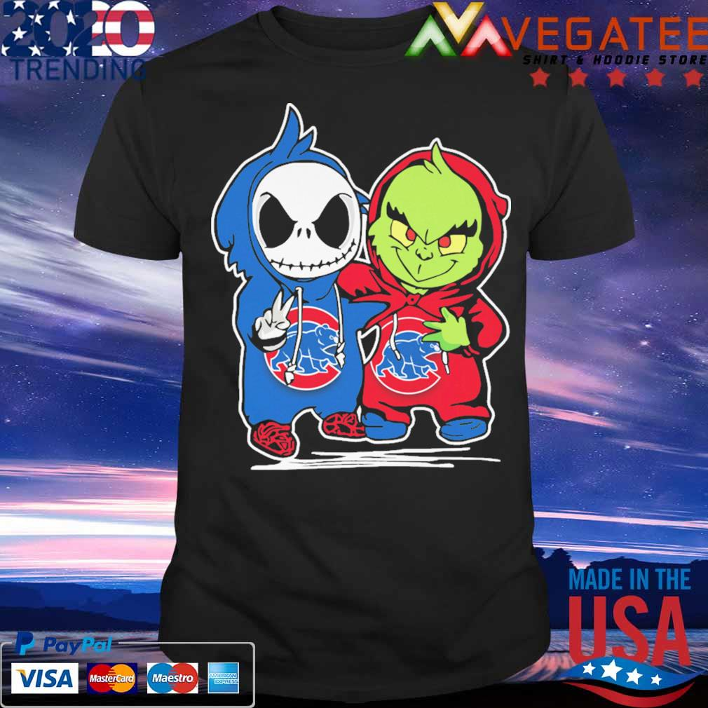 Baby Jack Skellington and Baby Grinch Chicago Cubs shirt