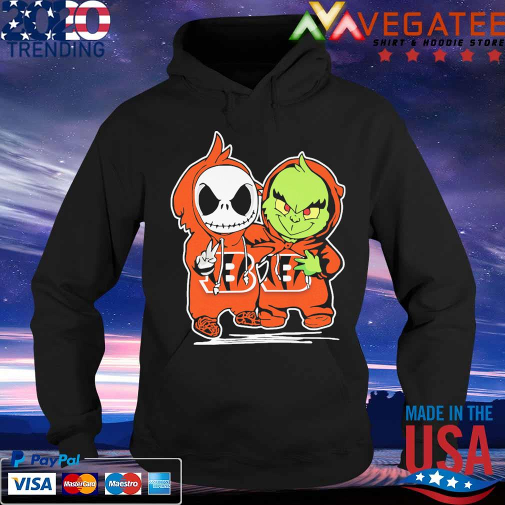 Baby Jack Skellington and Baby Grinch Cincinnati Bengals s Hoodie