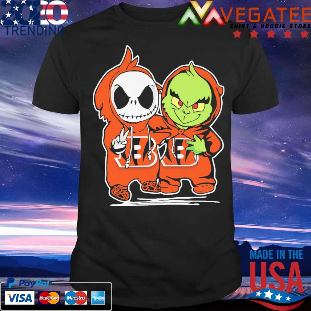 Baby Jack Skellington and Baby Grinch Cincinnati Bengals shirt