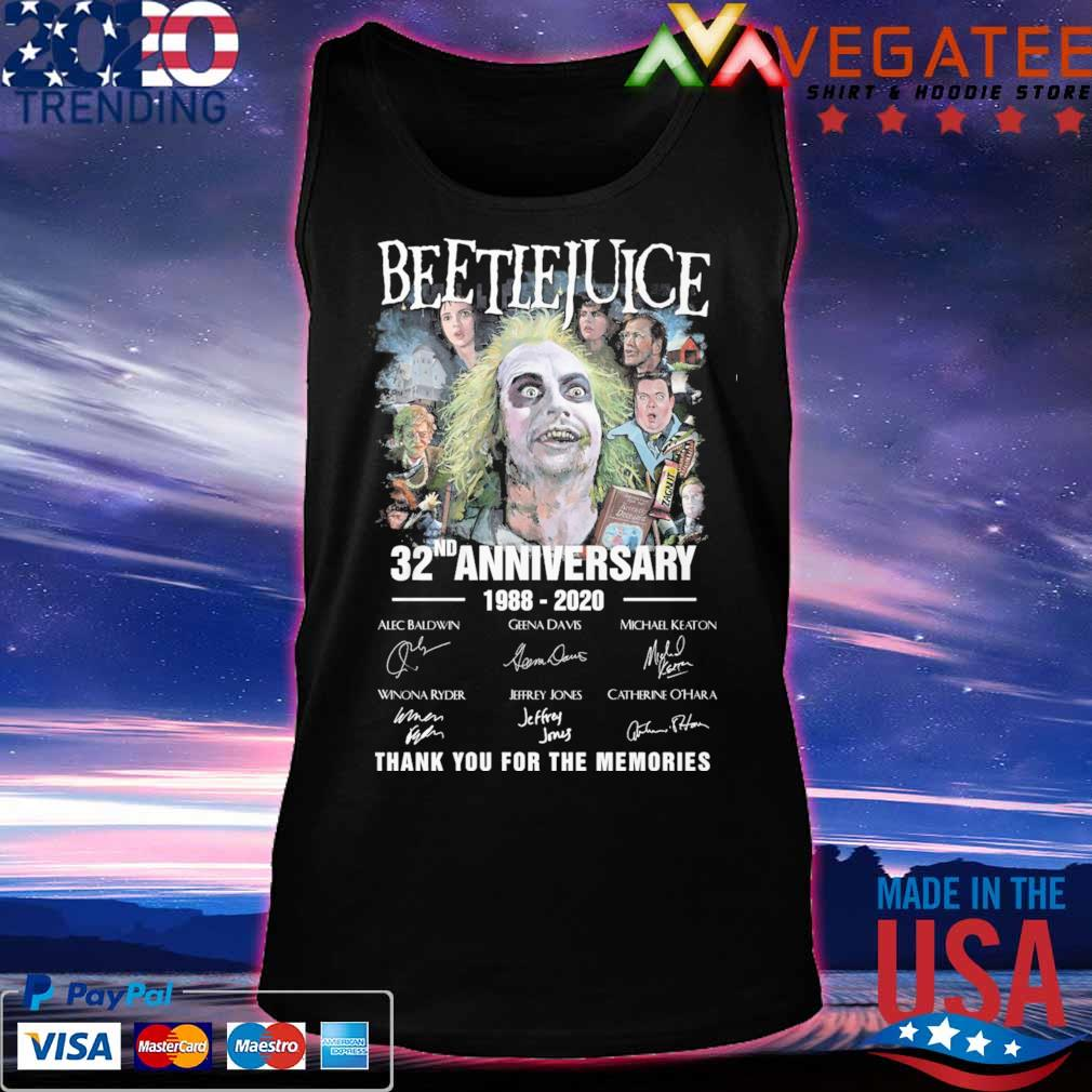 Beetlejuice 32nd anniversary 1988 2020 thank you for the memories signatures s Tanktop