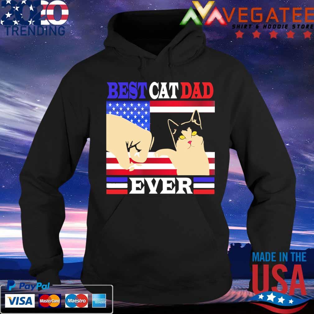 Best Cat Dad ever American flag s Hoodie