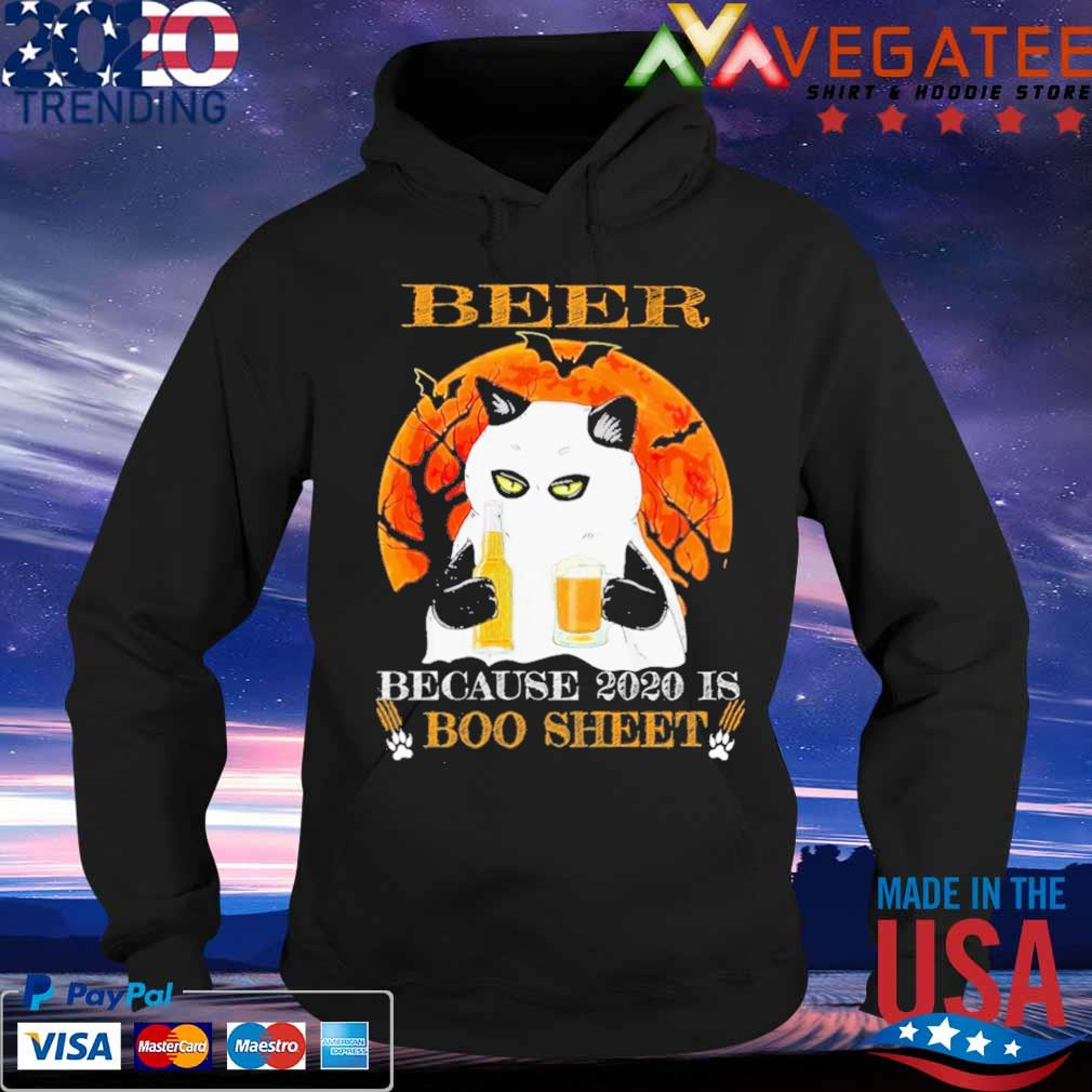 Cat Beer because 2020 is Boo sheet Halloween s Hoodie