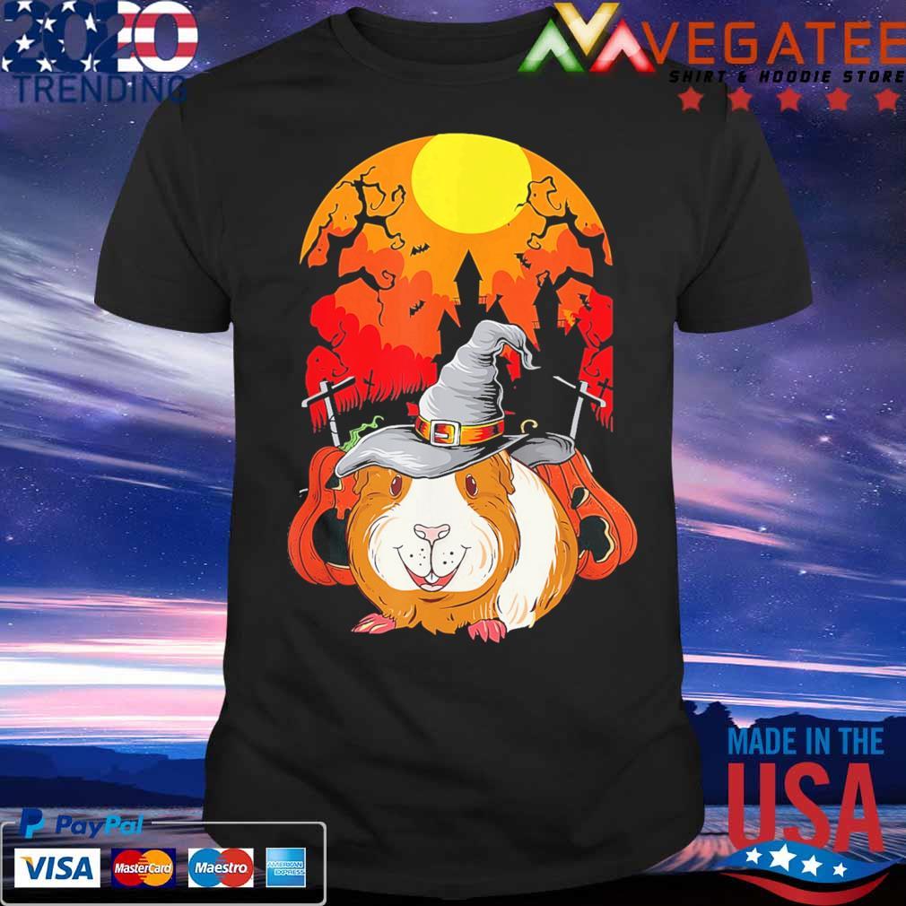 Guinea Pig Witch pumpkin happy Halloween shirt
