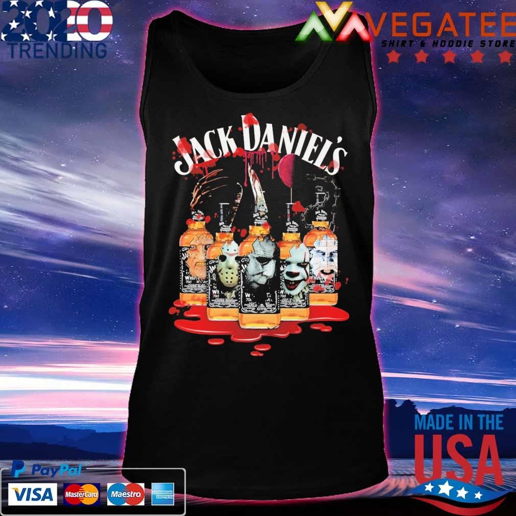 Horror movie character drink Jack Daniel's Halloween s Tanktop