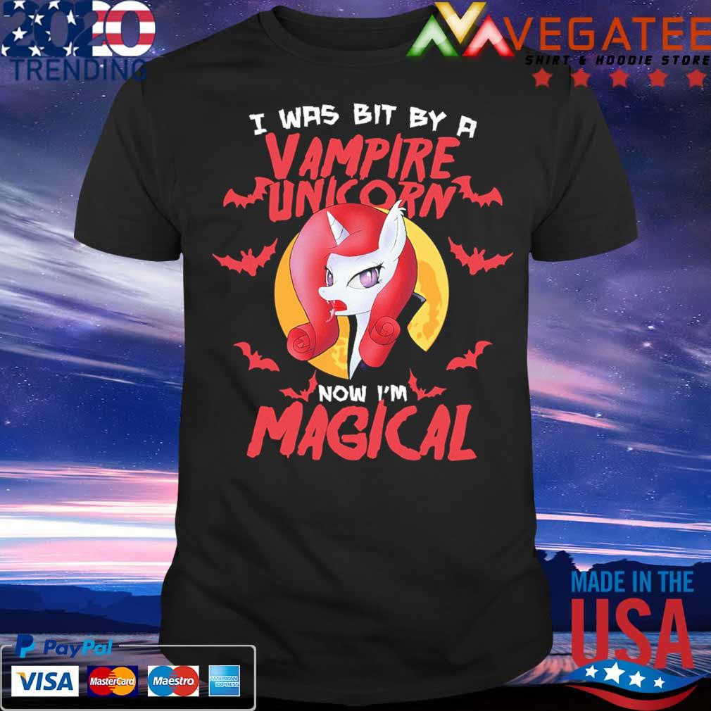 I was bit by a Vampire Unicorn now I'm magical Halloween shirt