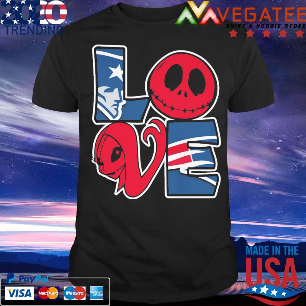 Jack Skellington and Sally love New England Patriots shirt