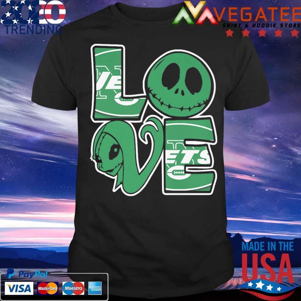 Jack Skellington and Sally love New York Jets shirt