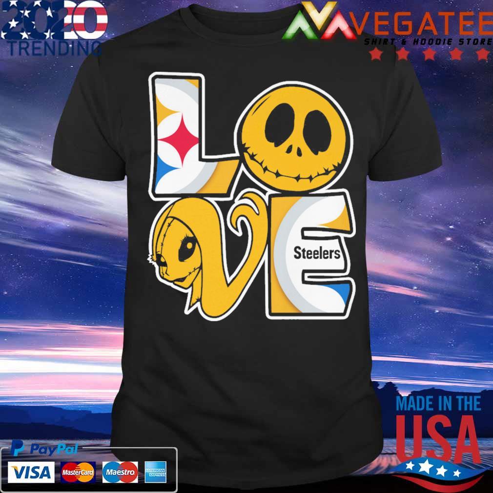 Jack Skellington and Sally love Pittsburgh Steelers shirt