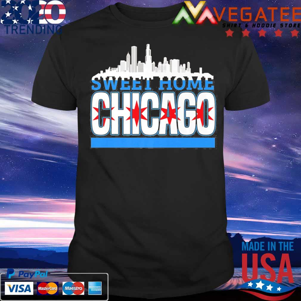Sweet Home Chicago flag shirt