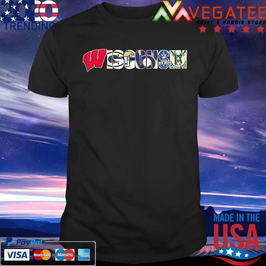 Wisconsin sport team city Green Bay Packers Milwaukee Brewers Milwaukee Bucks shirt