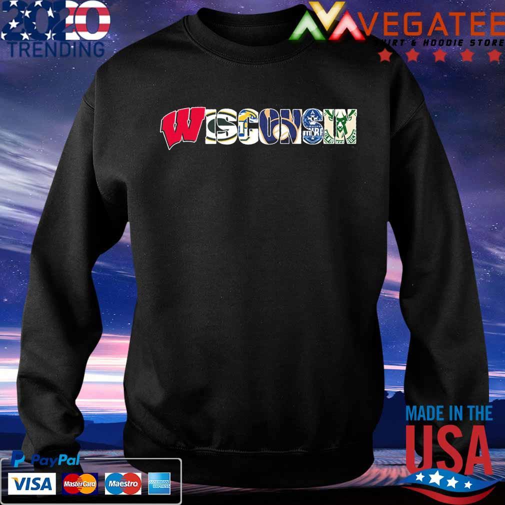Wisconsin sport team city Green Bay Packers Milwaukee Brewers Milwaukee Bucks s Sweatshirt