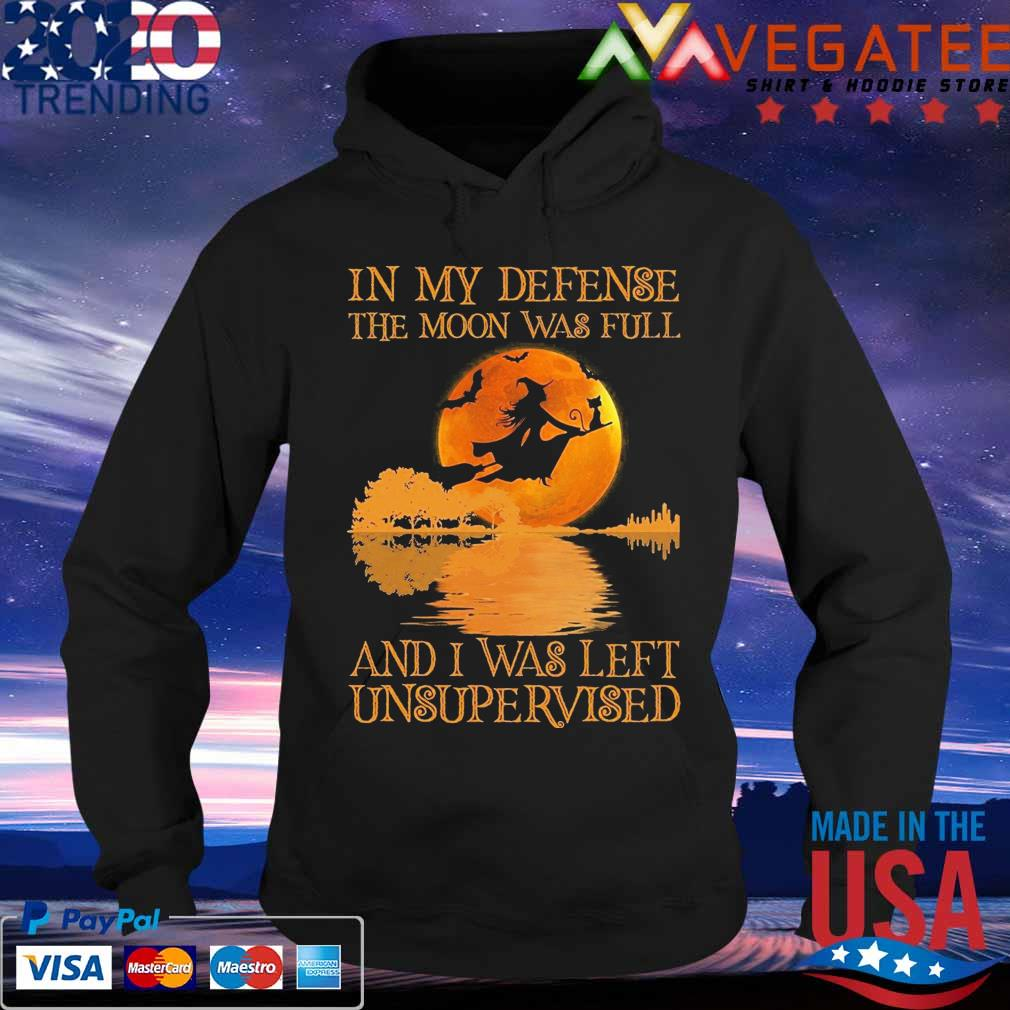 Witch and Black Cat Guitar in My defense the Moon was full and I was left unsupervised Halloween s Hoodie