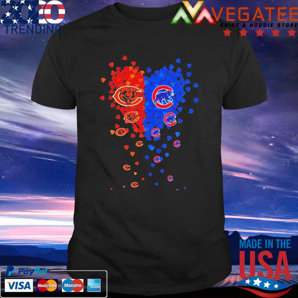 Love Chicago Bears vs Chicago Cubs shirt