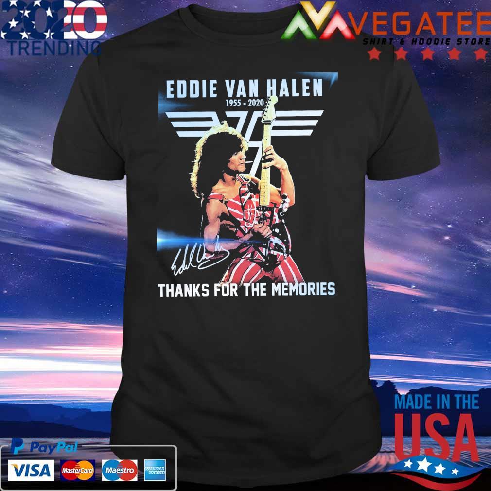 Official Eddie Van Halen 1955 2020 thanks for the memories signature shirt