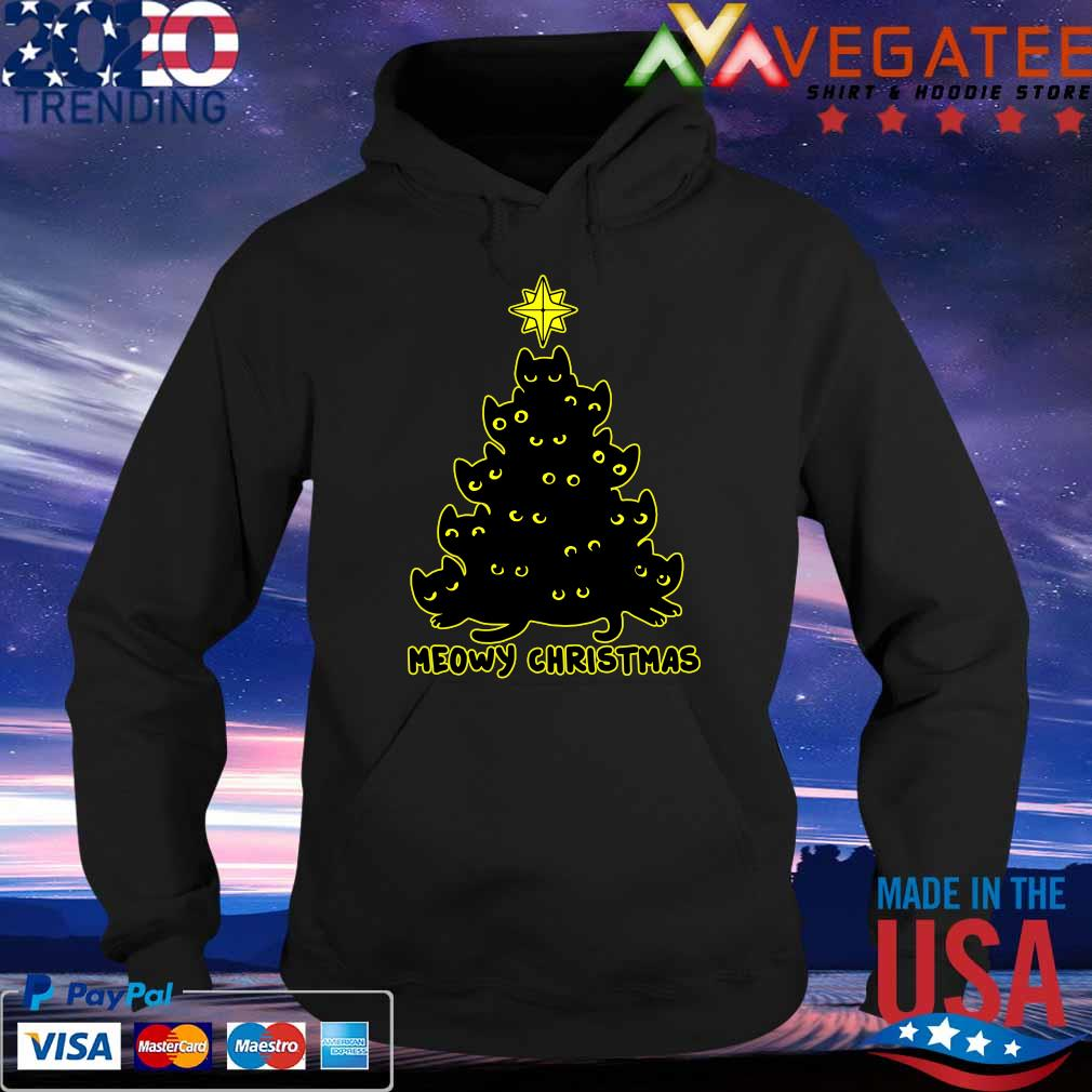 Official Meowy Christmas tree 2020 s Hoodie