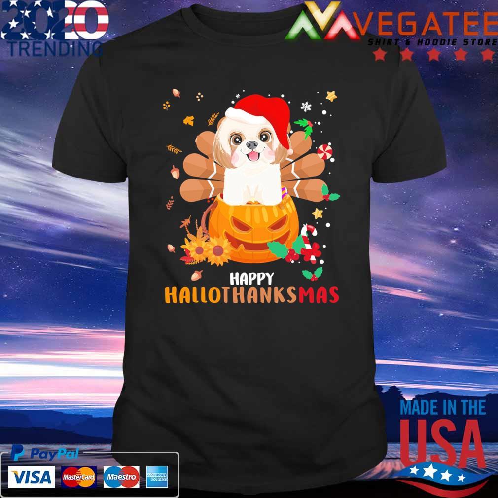 Shih Tzu Happy Hallothanksmas shirt