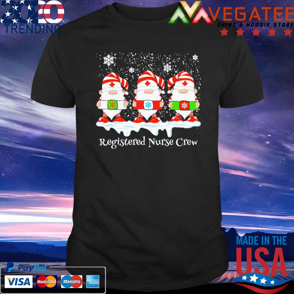 Gnome Nurse Registered Crew Merry Christmas 2020 shirt