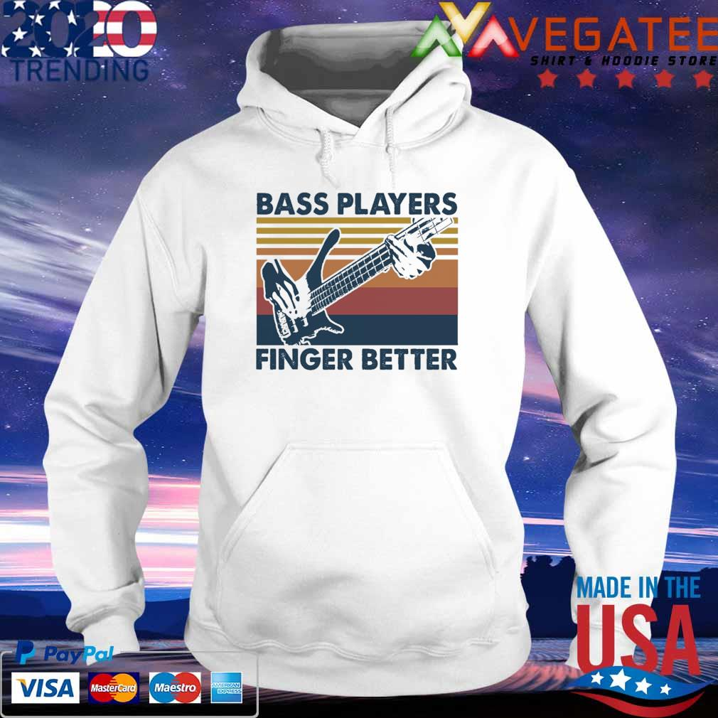 Guitar Bass Players Finger better vintage s hoodie