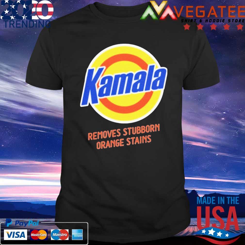 Kamala Harris removes stubborn orange stains 2020 shirt