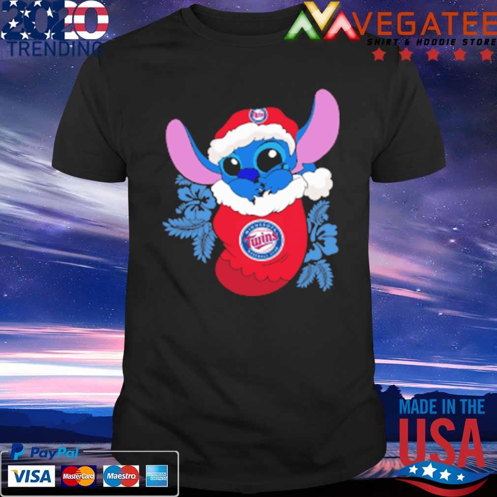 Minnesota Twins Christmas Stitch In The Sock Funny Disney MLB Sweatshirt
