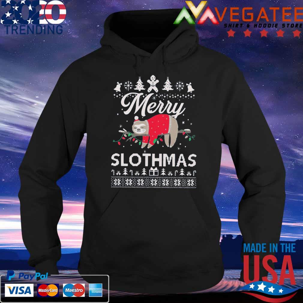 Official Merry Slothmas Sloth Funny Unisex Ugly Christmas Sweater Hoodie