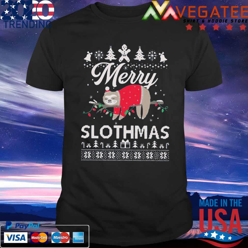 Official Merry Slothmas Sloth Funny Unisex Ugly Christmas Sweater