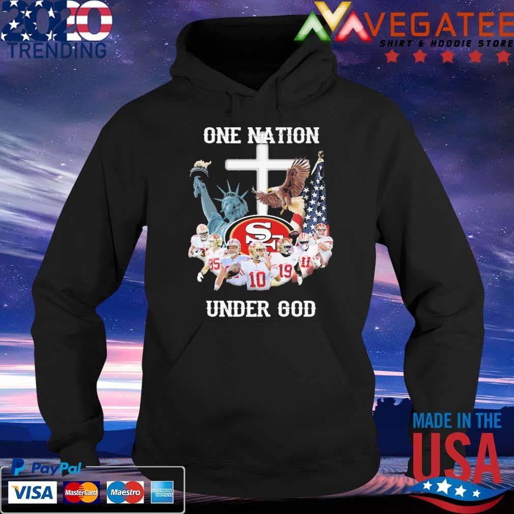 San Francisco 49ers one Nation under god cross s Hoodie